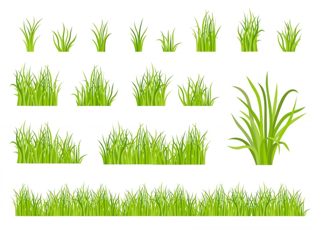 Green grass pattern set