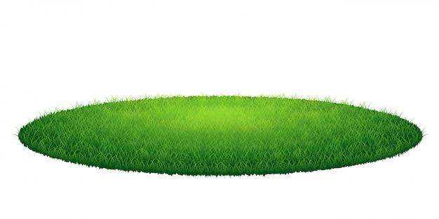 Green grass round arena