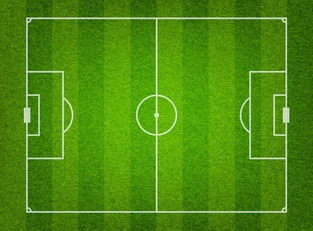 緑の芝生のサッカーフィールドの背景