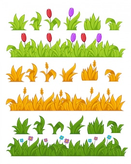 Green grass vector illustration