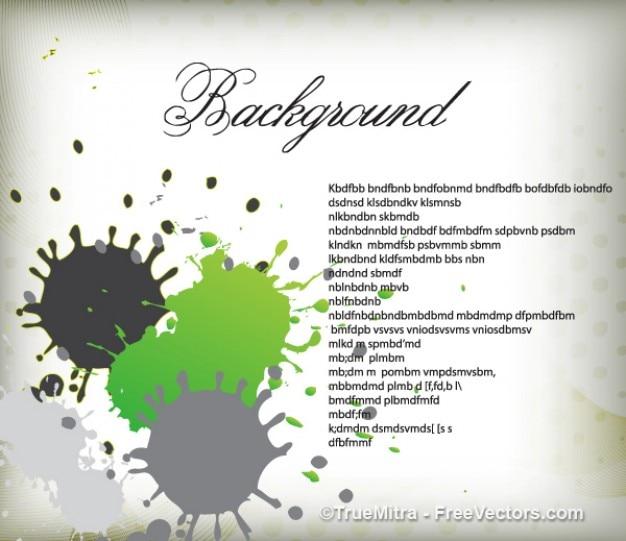 Verde e grigio spruzzi di sfondo