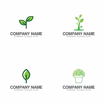 Green growth logo collection