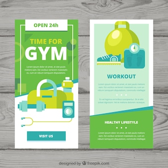 Green gym cover template