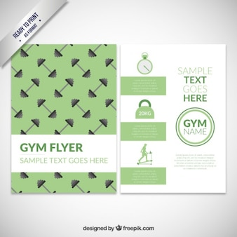 Зеленый спортивный зал флаер