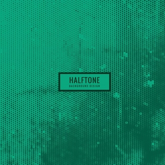 Green halftone background in grunge style