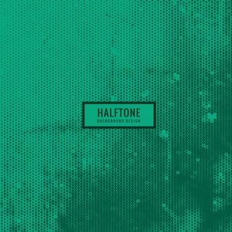 グランジスタイルで緑のハーフトーンの背景