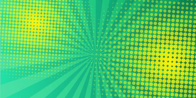 Green halftone design