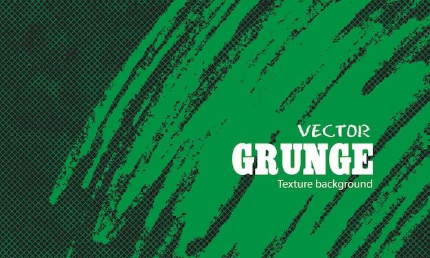 グランジネット背景を持つ緑の手描きブラシ