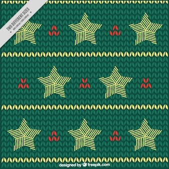 Green hand-drawn background with stars and red details