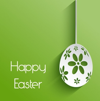 Green happy easter background
