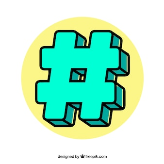 Green hashtag design