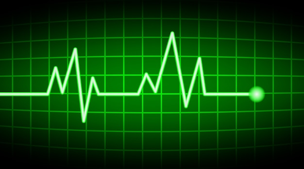 Green heart rate screen