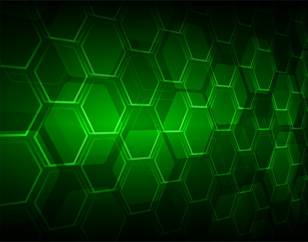 Green hexagon honeycomb grid pixel vector