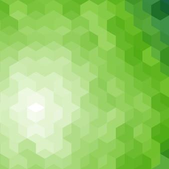 緑の六角形の抽象的な背景