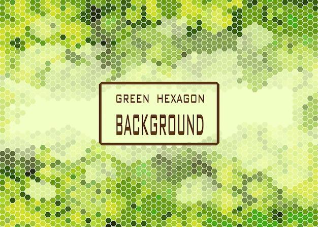 Green hexagonal background.