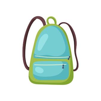 緑のハイキングバックパック