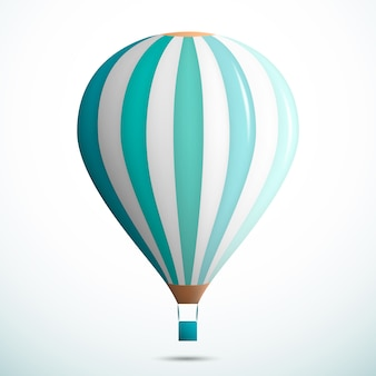 Green hot air balloon illustration