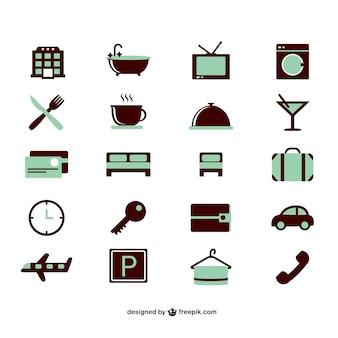 Set di icone di vacanza vettore