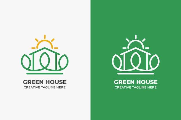 Green house architecture monoline logo