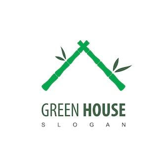 Green house bamboo logo