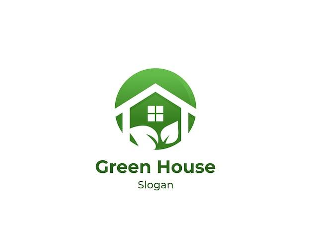 温室の庭のロゴ