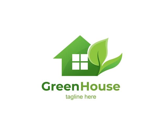 温室の葉のロゴ