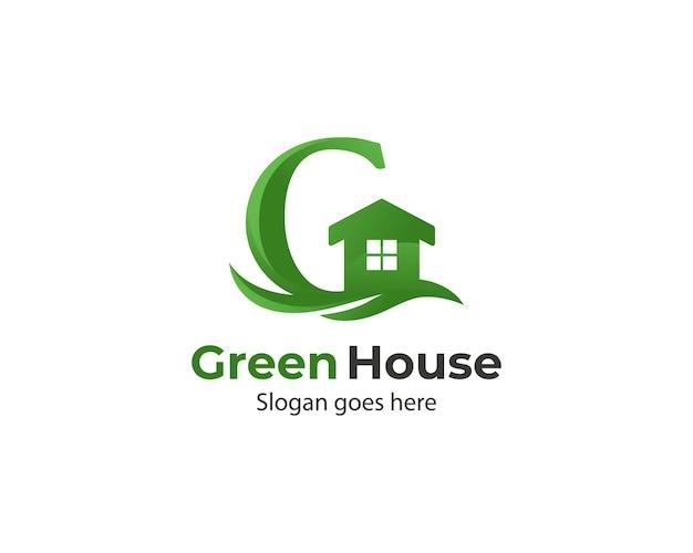 Green house letter g logo