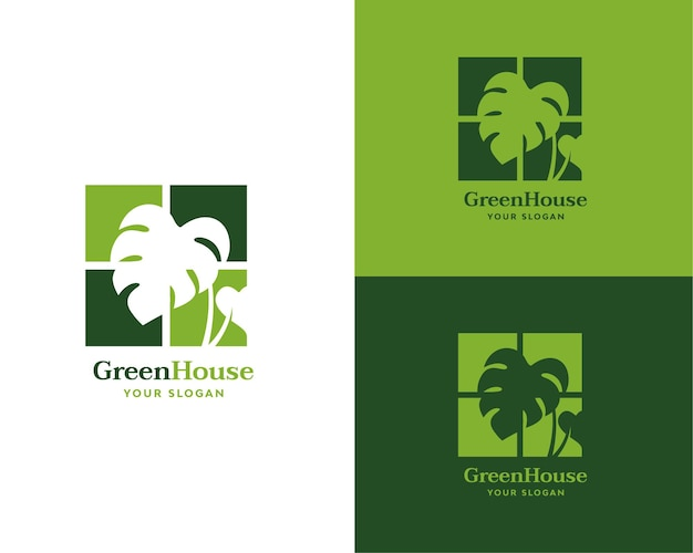 Green house logo brand