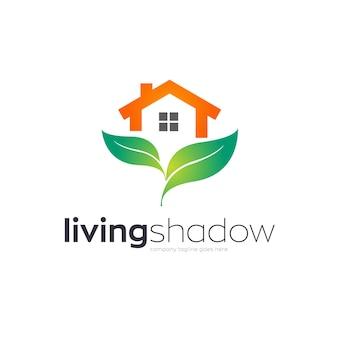 Дизайн логотипа зеленый дом