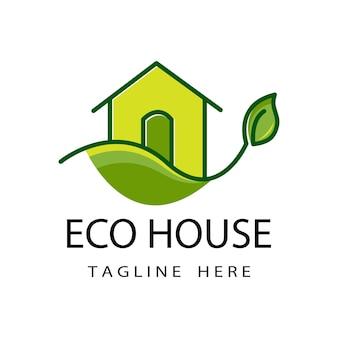 温室のロゴのテンプレートデザイン