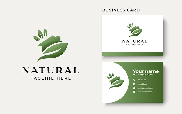 Green house logo template isolated in white background. vector illustration