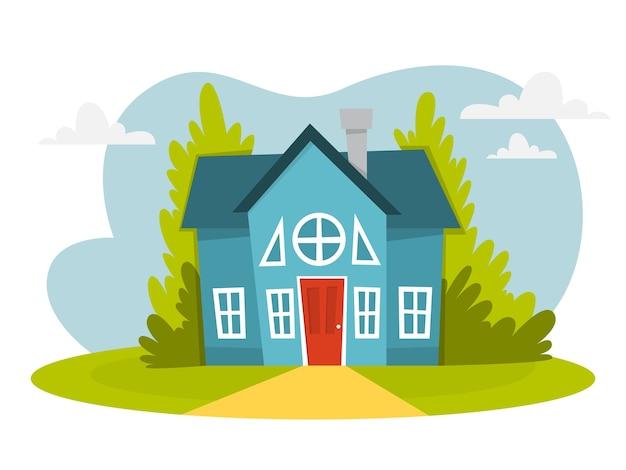 주위에 나무와 그린 하우스입니다. 시티 코티지