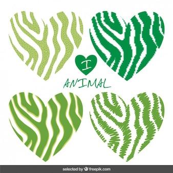 Green i love animal print