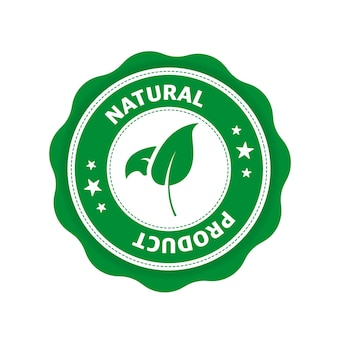Green icon logo icon label organic bio eco symbol natural product vegetarian healthy food