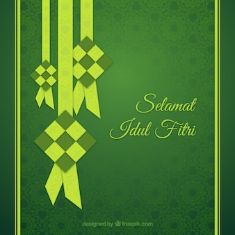 Green idul fitri background
