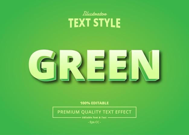 Green illustrator text effect