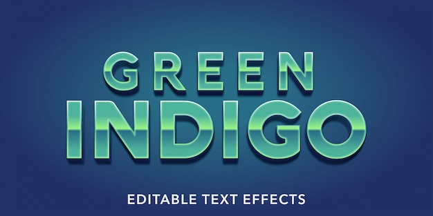 Green indigo editable text effects
