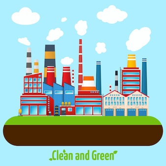 Плакат green industry