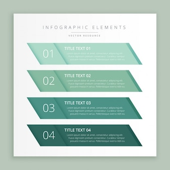 Green infographic banners