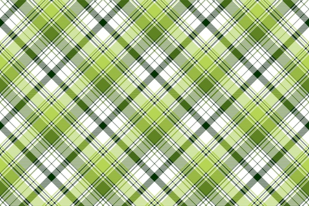Green ireland abstract check textile seamless pattern