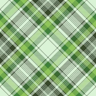Green ireland check plaid fabric seamless pattern