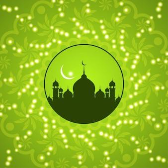 グリーンイスラム背景デザイン