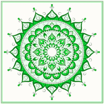 Зеленая исламская мандала