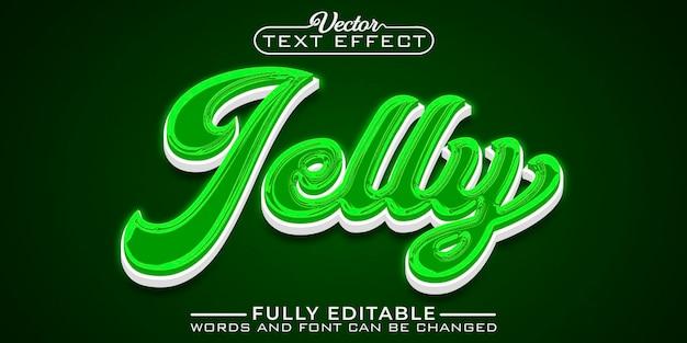 Шаблон редактируемого текстового эффекта green jelly