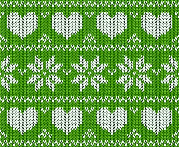 ノルウェー風のグリーンニットスターセータースカンジナビアのニットオーナメント明けましておめでとうメリークリスマス