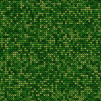 緑の編みseamlesパターン背景