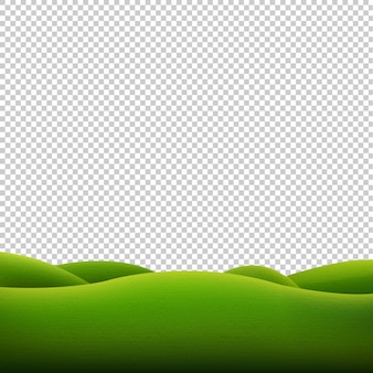 Green landscape isolated transparent background