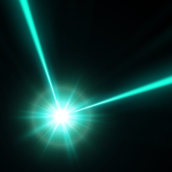 緑色のレーザービーム、イラスト