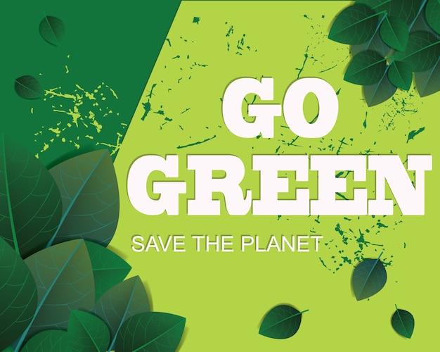 Green leaf background, go green concept