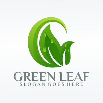 Green leaf ecology nature logo